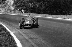XLIII Grand Prix de l'ACF – Circuit de Rouen-Les-Essarts – 7 July 1957 - Juan Manuel Fangio 🇦🇷 – Officine Alfieri Maserati – Maserati – 1957 World Championship of Drivers (round Maserati, Ferrari, Grand Prix, Photo D Art, Rouen, France, Road Racing, F1 Racing, Vintage Racing