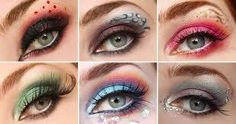 Kinda reminds me of Hunger Games makeup. I really only like the last one.