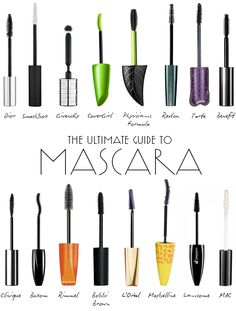 The Best Mascaras For Lush Lashes. My favorites are Physicians Formula, Benefit, !!!!!