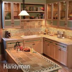 Small Kitchen Space-Saving Tips, I like the tile top for a small island