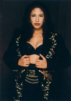 Selena Quintanilla Perez.I Love this coat she made.