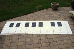 The Piano Studio: Tutorial: How To Make A Giant Keyboard Floor Mat