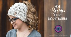 This messy bun hat crochet pattern was designed with the girly-girl in mind and it's FREE for you to make. Along with the free pattern, there's an optional upgrade to receive instructions for 5 sizes and two variations (stripes and bow)! The beehive bun beanie is all the rage this season and when you add stripes and a bow it just takes it over the top - go from bed head to awesome in under 60 (minutes) with this great crochet pattern!