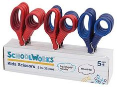 Schoolworks 153520-1004 Blunt Kids Scissors Classpack of 12