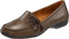 Naturalizer Women's Corrin Loafer Naturalizer. $19.99. N5 comfort cushioned footbed. Women's Naturalizer, Corrin. Smooth leather uppers with stitching details. Manmade sole. A leather loafer with cute side decorative lace design. leather. Elastic goring for a flexible and comfortable fit