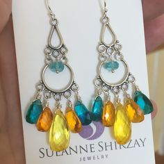 NEW Soiree Chandeliers! Fun colors and at the moment during the SPRING WARMUP SALE these and many more are 10-50% OFF!