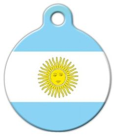 This tag features the flag of Argentina. Display your pet's national pride and patriotism with this great flag dog tag. Dog Id Tags, Pet Tags, Argentina Flag, Cat Collars, Kid Names, Tag Art, Pet Supplies, Your Pet, Dog Cat