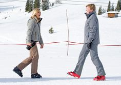Dutch Royal Family Skiing Holiday in Lech - 2015