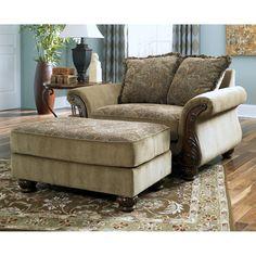 ❤️ashley furniture north shore-dark brown leather corner chaise
