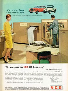 """""""Our old IBM couldn't even produce even half this many confusing print outs."""" (Funny bad retro computer ads)"""