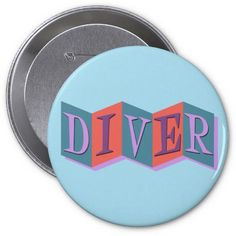 Put a pin in it with a Retro button at Zazzle! Button pins that really stand out with thousands of designs to pick from. Create easy make buttons & pins today! Gifts For Scuba Divers, How To Make Buttons, Cool Designs, Retro, Retro Illustration
