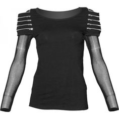 Judgement Day - futuristic gothic zipper top for women, by Queen of Darkness