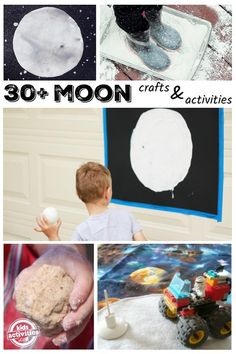 30+ Ways to Learn About The Moon Preschool Science, Science Experiments Kids, Teaching Science, Science For Kids, Science Activities, Preschool Crafts, Interactive Activities, Craft Activities For Kids, Moon Crafts