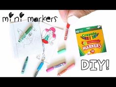 REAL miniature markers You can REALLY USE!   Back to school miniatures - YouTube