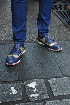 Nice shoes, looks like batman shoes
