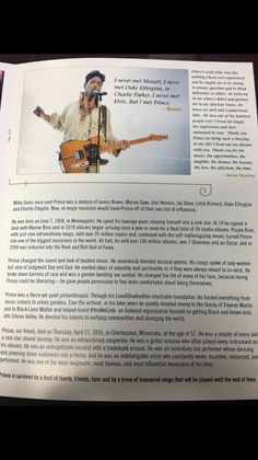 Prince's private memorial in LA Program Page 6