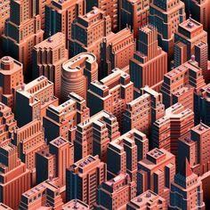 City Life - Isometric Cityscape on Behance