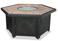 LP Gas Outdoor Firebowl w/ Decorative Tile Mantel by Endless Summer GAD1380SP