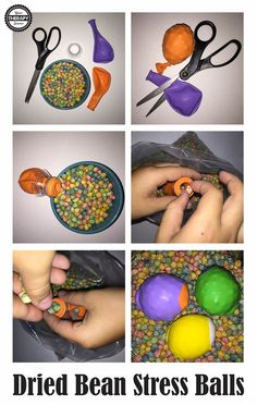 Dried Bean Stress Balls