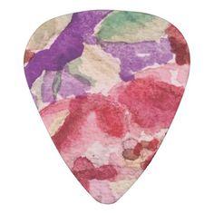 Crabapple Watercolor Guitar Pick - watercolor gifts style unique ideas diy