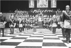 Freemasons annual meeting in 1992. (CORBIS CORPORATION)