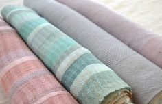 Looks like linen, lovely weaves.