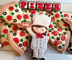 Pizza themed cookies!