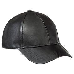 Xhilaration Faux Leather Hat - Black