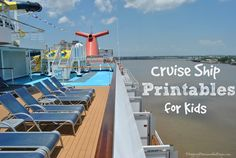 Cruise Ship Printables for Kids - How to plan your upcoming Family Cruise