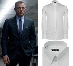 James Bond's Tom Ford collar shirt from SkyFall Mod Jacket, Suit Jacket, Classic Style, My Style, Groom Outfit, Daniel Craig, Collar Shirts, Black Tie, My Wardrobe