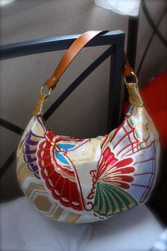 GD284 Butterfly Crescent Bag in Gold Medium Size by RummyHandmade, $65.00