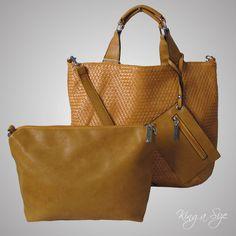 Tasche Shopper - Bag /   Einkaufstasche / mit entfernbarem Innenteil und Cloutch