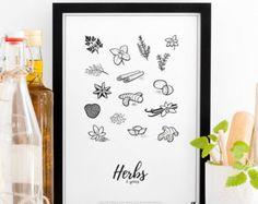 Küche-Messungen und Konvertierungen Poster von Follygraph auf Etsy
