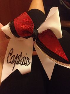 Cheerleading Captain customized bow! Figured it would be something special they could keep forever.