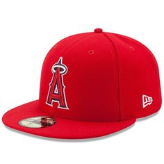 new arrival f52fc 36862 Los Angeles Angels of Anaheim New Era Authentic Collection On Field 59FIFTY  Performance Fitted Hat - Red