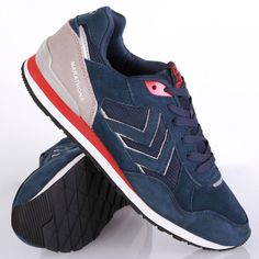 Hummel Marathona Low Dress Blue Schuhe Sneaker Blau Grau