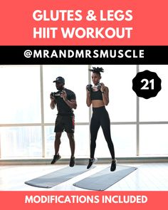 Tone your Legs and build your Glutes in this POWERFUL HIIT Workout at Home or the gym. Low impact modifications are included. -- Tone your Legs and build your Glutes in this POWERFUL HIIT Workout at Home or the gym. Low impact modifications are included Fitness Workouts, Full Body Hiit Workout, Fitness Motivation, Hiit Workout At Home, Yoga Fitness, At Home Workouts, Physical Fitness, Fitness Humor, Fitness Logo