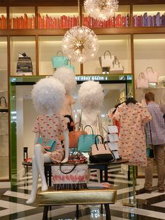 "KATE SPADE,New York, Instore, ""The Fluffy Heads"",  photo by Beekwilder B.V., pinned by Ton van der Veer"