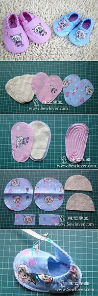 Baby booties for kids. How to sew, pattern / sewing, knitting for children on . Baby booties for kids. How to sew, pattern / sewing, knitting for children on . Baby Shoes Pattern, Shoe Pattern, Baby Patterns, Sewing Patterns, Sewing Stitches, Crochet Stitches, Fabric Patterns, Knitting Patterns, Crochet Patterns