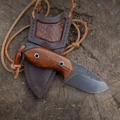 Gloin 4 mm NC6 steel, Length: 135 mm / 60 mm blade, Handle: arizona desert ironwood.