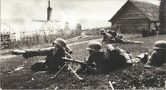 German Panzergrenadiers during the Kharkov battles. The Wehrmacht had shown its superior tactics by turning a potential defeat into a stunning victory.