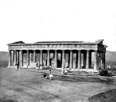 Thission, Athens - (photo by James Robertson) also known as the Temple of Hephaestus Greece Pictures, Old Pictures, Old Photos, Vintage Photos, Greek History, History Of Photography, Acropolis, In Ancient Times, World's Fair
