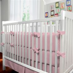 Solid Coral Pink Crib Bedding %23carouseldesigns