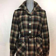 Pendleton Womens Vintage Jacket Grey - Black - Red Plaid Size M/L 49ers Jacket, Shirt Jacket, Vintage Outfits, Vintage Fashion, Vintage Clothing, Vintage Design, Red Plaid, Cool Outfits, Men Casual