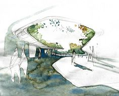 Architectural Sketch | Watercolour