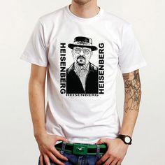 Heisenberg Breaking Bad Walter White Jesse Custom White T-Shirt Tee Size XS-XXL