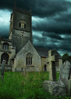 St. Michael's Cathedral by MikeJagendorf    A 250-year old cathedral and cemetery in the Cotswolds region of England.