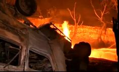 MUMBAI Gas tanker fire : Gas tanker fire, one died.Mankhurd area on the Eastern Express Highway Sunday night at half taking HPCL gas tanker company fell below the bridge. Falling into the fire.