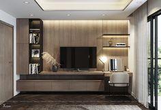Bedroom Tv Cabinet, Bedroom Tv Wall, Bedroom Cabinets, Home Decor Bedroom, Master Bedroom, Modern Bedroom, Bedroom Tv Unit Design, Tv Unit Interior Design, Living Room Tv Unit Designs