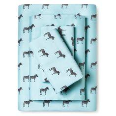 Whimsical Zebra Print Sheet Set (Twin XL) Aqua (Blue) - Elite Home